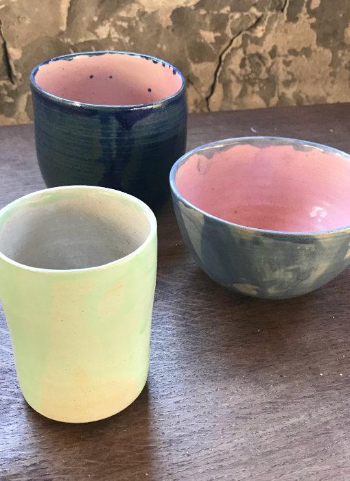 Keramik Tassen und Schüsseln