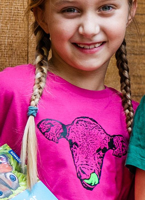 Kinder Hof-T-Shirt in pink